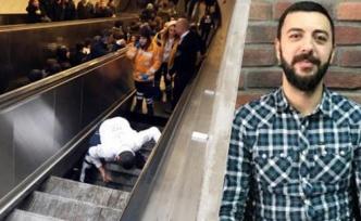 Yürüyen merdivene düşen adam yaşadıklarını anlattı