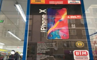 Ucuz ürünlerin marketi olan BİM'de İphone X devrimi