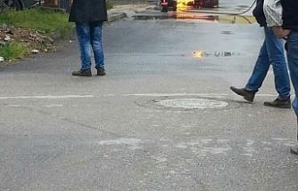 LPG'li araç alev aldı... Sürücü canını zor kurtardı