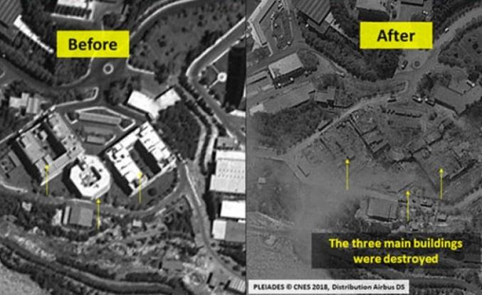 ABD'nin Suriye'de vurduğu noktaların uydu görüntüleri