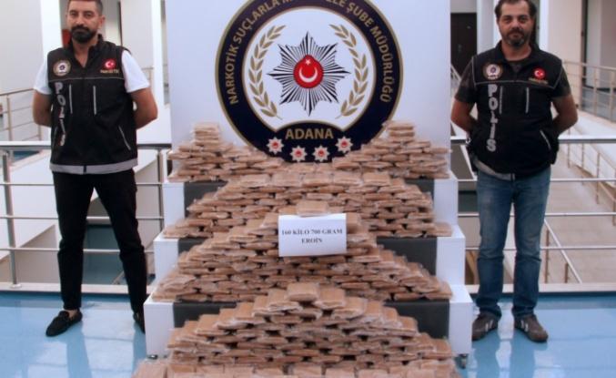 Adana'da dev operasyon: 160 kilo...