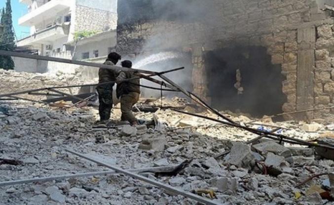 Esad rejimi TSK'nın bulunduğu İdlib'e hava saldırı düzenledi: 7 sivil hayatını kaybetti
