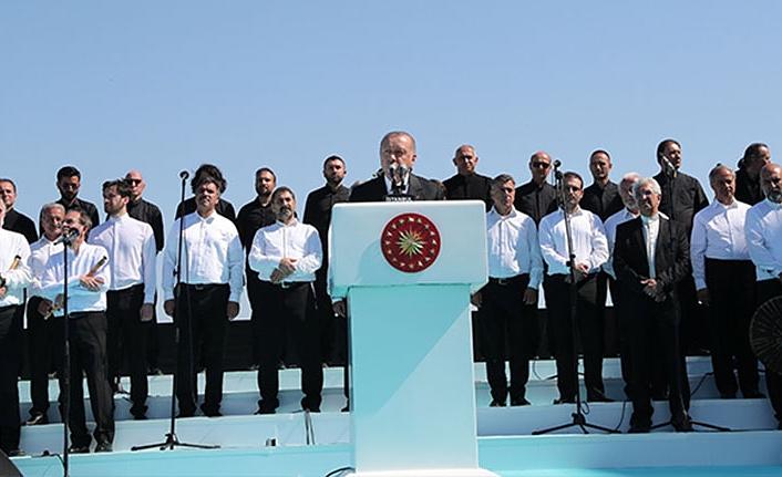 Büyük Çamlıca Camii Açılışında Cumhurbaşkanının konuşmasından satırbaşları