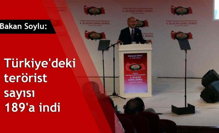 Bakan Soylu: Türkiye'deki terörist sayısı 189'a indi
