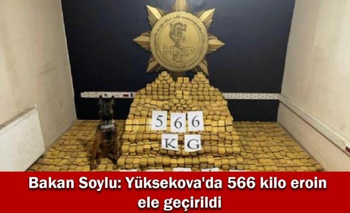 Bakan Soylu: Yüksekova'da 566 kilo eroin ele geçirildi