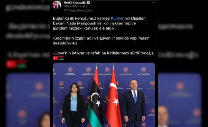 Bakan Çavuşoğlu, Libya Dışişleri Bakanı Manguş ile görüştü (2)