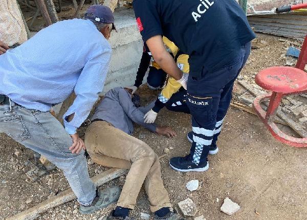 İskeleden düşen kalıp ustası yaralandı