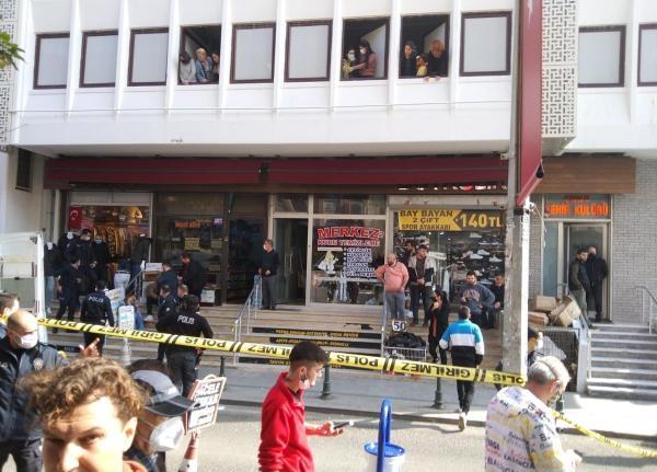 Konfeksiyoncuyu iş yerinde öldürdü, çevredekiler yakalayıp polise teslim etti