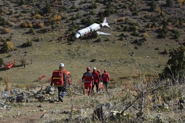 Konya'da, düşen uçağa arama- kurtarma tatbikatı