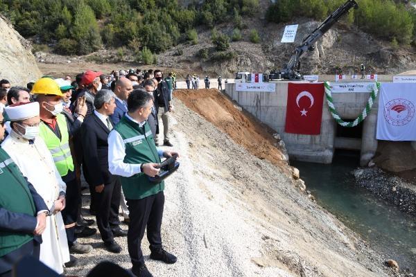 Pamukluk Barajı'nda su tutma işlemi Bakan Pakdemirli'nin katılımıyla başladı