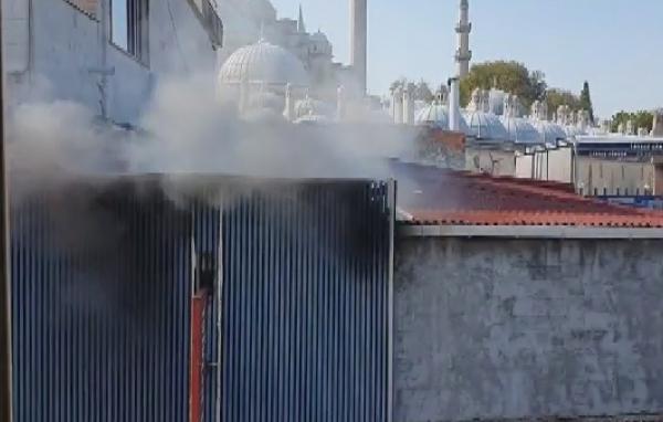 Süleymaniye'de iş yeri yangını (1)