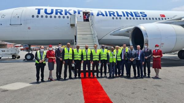 THY'nin Afrika'daki 61'inci uçuş noktası Luanda oldu