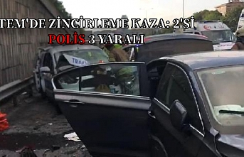 TEM otoyolunda kaza 2'si polis 3 kişi yaralandı