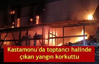 Kastamonu'da toptancı halinde çıkan yangın korkuttu
