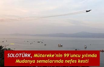 SOLOTÜRK, Mütareke'nin 99'uncu yılında Mudanya semalarında nefes kesti