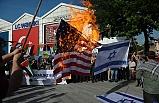 Bursa Şehreküstü meydanında Filistin için namaz ve protesto