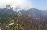 Hatay orman yangını drone görüntüleri (Uzun çekim)