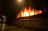 Bursa'da okulun dibinde yangın