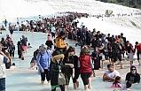 Pamukkale'ye giriş ücretsiz oldu, izdiham yaşandı