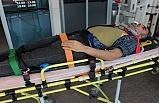 Bursa'da 4 metreden yere düşen kaynakçı yaralandı