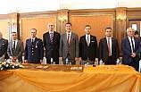Bandırma'da bayramlaşma töreni