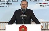 Cumhurbaşkanı Erdoğan temel atma töreninde konuştu