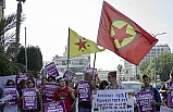 Terör örgütü YPG/PKK'ya destek eylemi