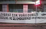 Bursaspor taraftarları sağlık çalışanlarını unutmadı