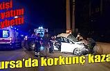 Bursa'da elektrik direğine çarpan otomobil ikiye bölündü: 3 ölü, 1 yaralı