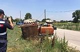 İnegöl'de kamyonet, traktöre çarptı: 1 yaralı