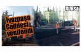 İvazpaşa caddesi asfaltlanarak yenilendi