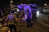 Kocaeli'de TIR'ın çarptığı minibüsteki 9 kişi yaralandı