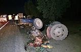 İznik'te feci kaza! Sollamak isterken, traktörü parçaladı