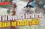 Bursa'da 7 yılda biriktirdiği paralarla öz çekim yaptı