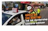 Bursa'da maske denetimi