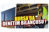 Bursa'daki denetimde 97 bin 494 lira cezai işlem uygulandı