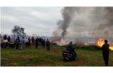 İznik Gölü kıyısında büyük yangın: 15 dönüm alan kül oldu