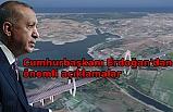 Cumhurbaşkanı Erdoğan Kanal İstanbul Sazlıdere Köprüsü'nün temel atma töreninde
