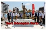Edirne'de Naim Süleymanoğlu'nun heykelinin bulunduğu park açıldı