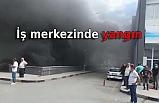 İş merkezinin kimyasal madde deposunda yangın
