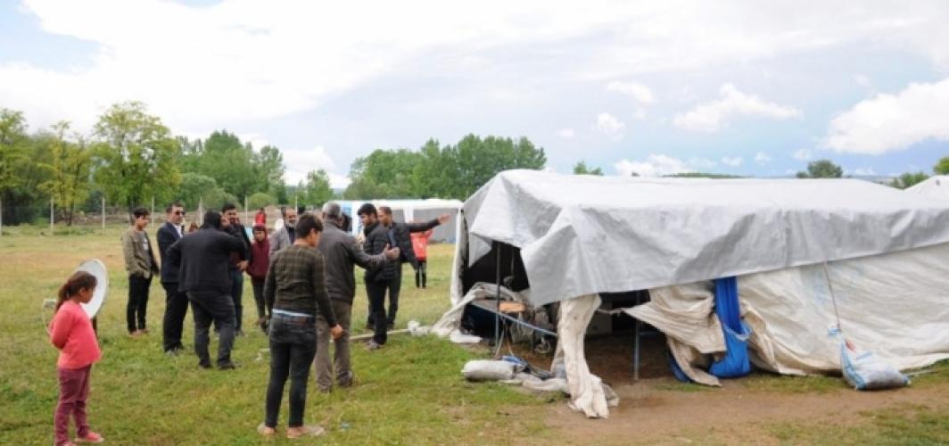 Bursa'da yangın mağduru mevsimlik işçilere belediye sahip çıktı