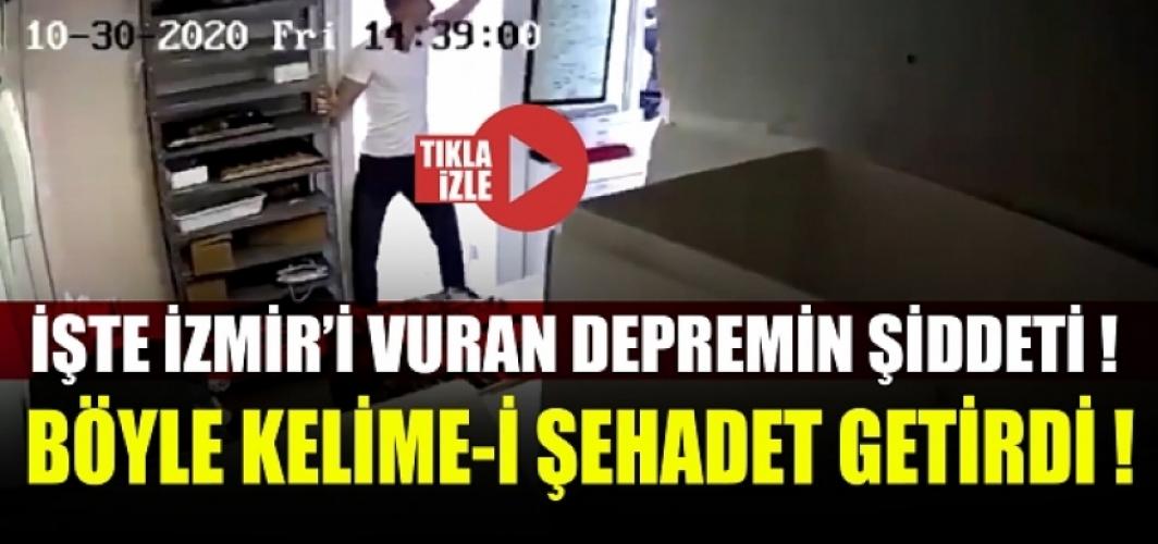 İşte İzmir'i vuran depremin şiddeti! Böyle Kelime-i Şehadet getirdi