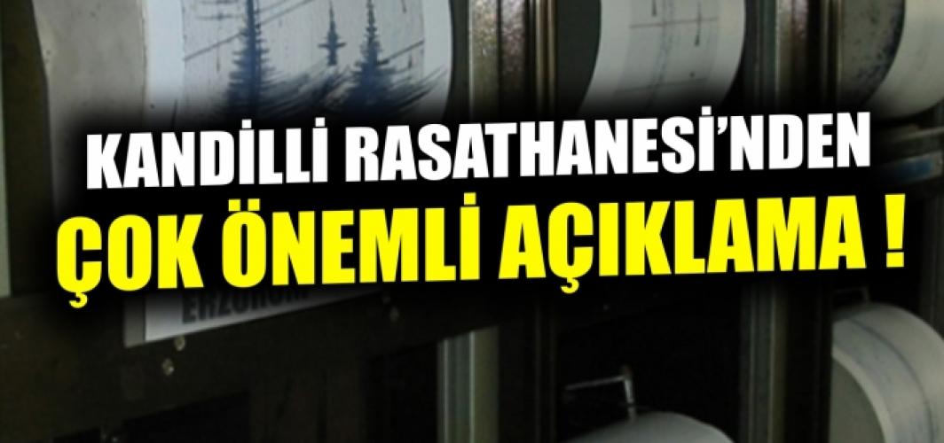 Kandilli Rasathanesi'nden İzmir depremine ilişkin ilk açıklama.