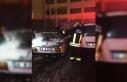 Park halindeki otomobilinde çıkan yangında öldü