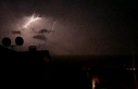 Bursa'da şimşekler gökyüzünü aydınlattı