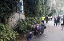 Beşiktaş'ta motosiklet kaldırımdaki yayalara...