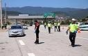 Bolu'da kente girenlere koronavirüs tedbirleri...