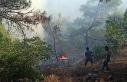 İslahiye'de orman yangınında 3 dönüm alan...