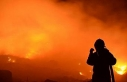 Salihli'de, şehir çöplüğünde korkutan yangın