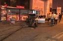 Otomobil bariyerlere çarptı, yola dökülen yağ...